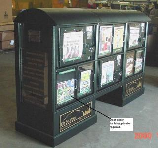 Aluminum News Rack Street Furniture